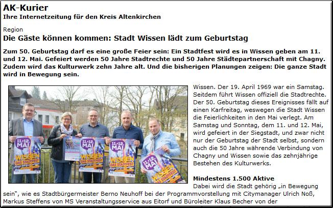 Stadtfest Wissen in der Presse